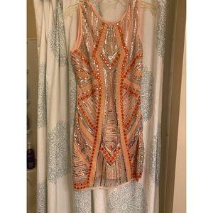 Sequin SHOP HOPES mini dress